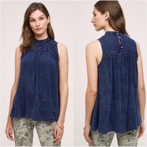 Anthro Embroidered Top